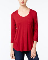 Maison Jules Three-Quarter-Sleeve T-Shirt, Only at Macy's