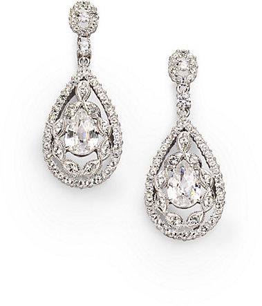 Adriana Orsini Double-Wrapped Teardrop Earrings