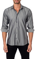 Jared Lang Long Sleeve Printed Semi-Fitted Shirt