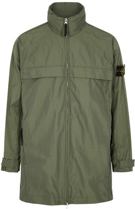 Stone Island Olive hooded Micro Reps jacket
