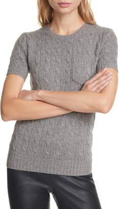Polo Ralph Lauren Short Sleeve Cable Cashmere Sweater