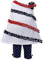 Bonnie Baby 3-24 Months Seersucker Americana 4th of July Dress & Bike Shorts Set
