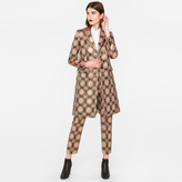 Paul Smith Women's Pink And Gold 'Tapestry' Jacquard Epsom Coat
