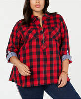 bcfb25cf57450 Tommy Hilfiger Red Plus Size Tops on Sale - ShopStyle