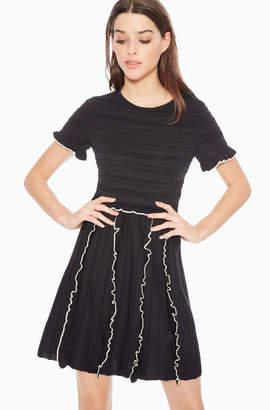 Parker Lenny Ruffled Knit Dress