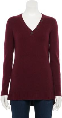 Sonoma Goods For Life Women's Button V-neck Sweater