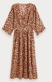 Scotch & Soda Animal Print Midi Dress - S