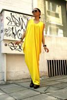 Etsy Yellow Summer Asymmetric Kaftan / Maxi Dress / Loose sleeveless Kaftan by Aakasha A03004