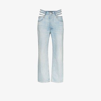 3x1 X Mimi Cuttrell Willow high waist cutout jeans