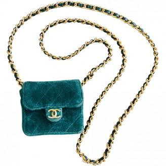 Chanel Timeless/Classique Green Velvet Handbags