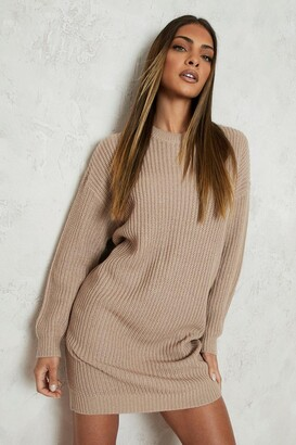 boohoo Crew Neck Jumper Dress