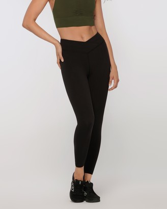 Lorna Jane Wrap Waistband Ankle Biter Tights