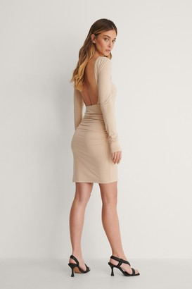 Curated Styles Open Back Draped Dress