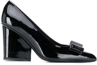 Salvatore Ferragamo Vara Bow chunky-heel pumps
