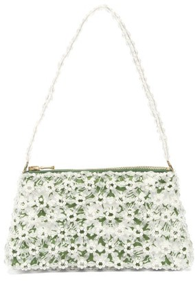 Shrimps Dawson Floral-beaded And Faux-pearl Bag - Green Multi