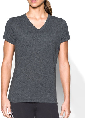 Under Armour Women's Tee Shirts BLACK - Black ThreadborneTM Train Twist V-Neck Tee - Women
