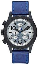 Nixon Women's A5042131 38-20 Chrono Leather Analog Display Japanese Quartz Blue Watch