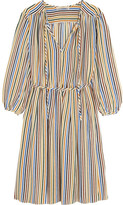 Vanessa Bruno Festine Striped Silk Dress - Blue