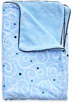 Caden Lane Luxe Light Blue Swirl Blanket