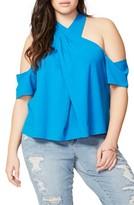 Rachel Roy Plus Size Women's Cold Shoulder Crisscross Top