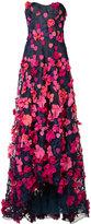 Marchesa floral applique dress - women - Polyester - 14