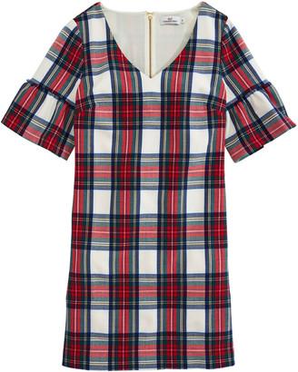 Vineyard Vines OUTLET Women's Jolly Plaid Flutter Sleeve Dress