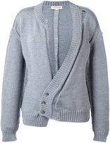 A.F.Vandevorst asymmetric front cardigan - women - Cotton/Polyamide - 38