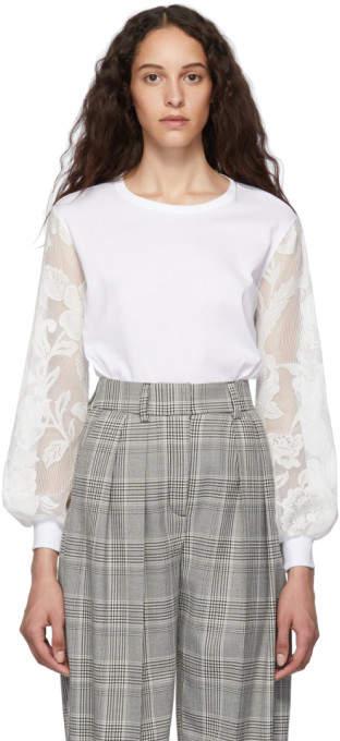 cb99184e White Lace Long Sleeve T-Shirt