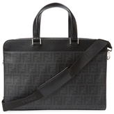 Fendi Printed Leather Briefcase