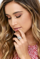 LuLu*s Wing Feather Silver Ring