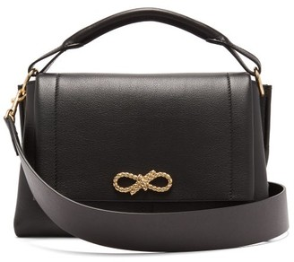 Anya Hindmarch Rope Bow Leather Shoulder Bag - Womens - Black