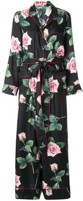 Dolce & Gabbana Tropical Rose Print Jumpsuit