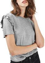 Topshop PETITE Frill Sleeve T-Shirt