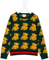 Gucci Kids - bear patterned jumper - kids - Wool - 4 yrs