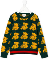 Gucci Kids bear patterned jumper