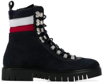 Tommy Jeans padded stripe ankle boots