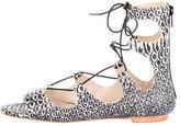 Loeffler Randall Dani Embossed Lace-Up Sandals w/ Tags