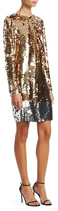 N°21 Long Sleeve Sequin Mini Dress