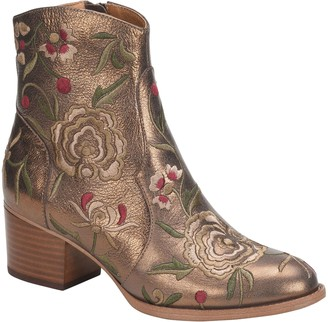 Sofft Embroidered Leather Ankle Boots - Westmont