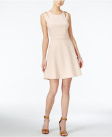 Bar III Cutout Fit and Flare Dress, Only at Macy's
