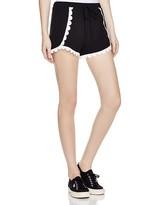 Aqua Contrast Crochet Shorts - 100% Exclusive