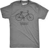 Crazy Dog T-shirts Crazy Dog Thirt Men Cycologit Funny Pychology Biking Cyclit Pun Biker Tee Thirt (Grey)