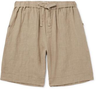 Desmond & Dempsey Linen Drawstring Pyjama Shorts