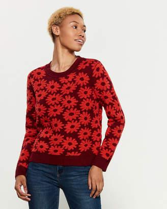 Margherita Splendid X Long Sleeve Floral Sweater