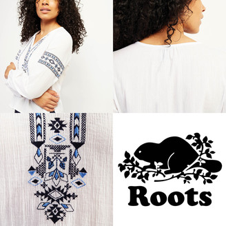 Roots Rimby Embroidered Peasant Top