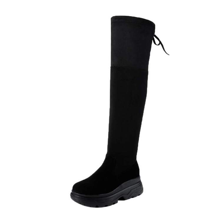 6886c10cf5369 Fullfun 2018 New Winter Fashion Women Over The Knee High Boots Sexy Thick  Bottom Heels Stretch Skinny Boots Shoes (7.5, )