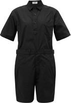 Chimala Short-sleeved Cotton Playsuit - Womens - Black