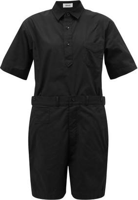 Chimala Short-sleeved Cotton Playsuit - Black