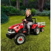 Peg Perego Case IH Tractor and Trailer - Red