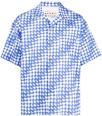 Marni Face-Print Short-Sleeve Shirt